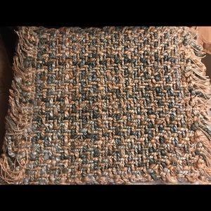 2 New Pottery Barn Braided Jute Dhurrie Kilim Mats